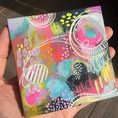 Bounce Mini Wonderland Series Original by stephaniecorfee on Etsy Acrylic Paintings, Original Paintings, Art Mini Toile, Wonderland, Mini Canvas Art, Painting Services, Awesome Gifts, Colour Schemes, Abstract Canvas