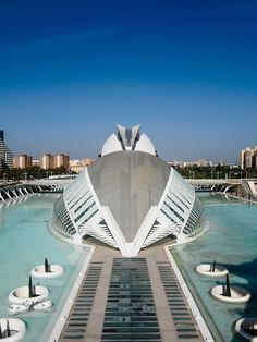 City of arts and sciences in Valencia, Spain. Designed by the architect Santiago Calatrava