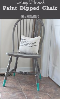 DIY Seating Ideas - Paint Dipped Chair - Creative Indoor Furniture, Chairs and Easy Seat Projects for Living Room, Bedroom, Dorm and Kids Room. Cheap Projects for those On A Budget. Tutorials for Cushions, No Sew Covers and Benches http://diyjoy.com/diy-seating-chairs-ideas