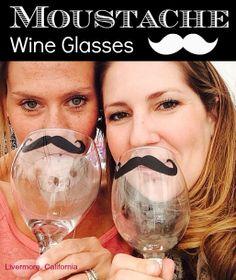 Moustache Wine Glasses and Accessories