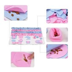 Handmade Dog Play Mat Snuffle Training Feeding Foraging Mat Nose Work Blanket Machine Washable Pet Toys