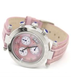Klaus-Kobec Couture Sports Pink Diamond Ladies Watch - $275.00