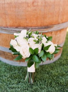 Ivory Bridal Bouquet By Tustin Florist