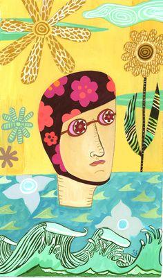 Droplets 1, Sarajo Frieden, illustrator art