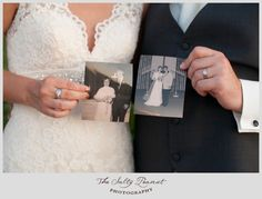 Have the bride and groom hold a picture of their parents on their wedding day :)