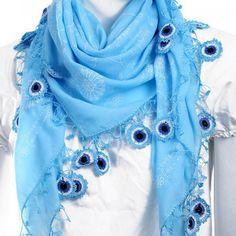 Turkish Blue Nazar Lucky Eye Scarf