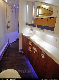 Thai Airways Airbus A380 business class restroom