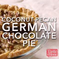 Chocolate-Pecan German Chocolate Pie