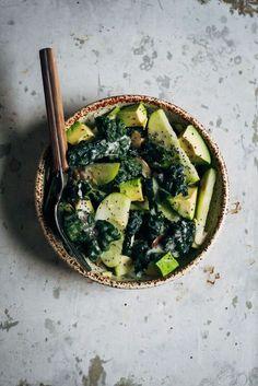 Kale & Apple Salad with coconut yogurt dressing