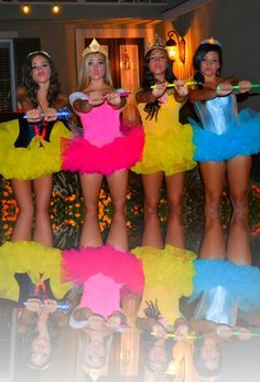 Disney Princess costumes. So cute!!