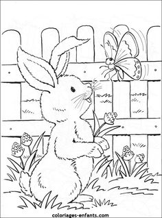 Spring Coloring Pages, Easter Coloring Pages, Coloring Sheets For Kids, Cute Coloring Pages, Free Coloring, Coloring Books, Easter Bunny Colouring, Kindergarten Art Projects, Diy Ostern