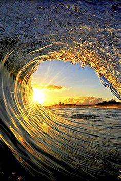 3D Abstract Art of tidal waves & trees | Wave Tunnel HD iPhone Wallpapers, iPhone 5(s)/4(s)/3G Wallpapers