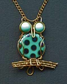 "love the big eyes and the wire ""branches""  Owl Pendant by ~oasiaris on deviantART"