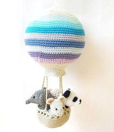 crochet hot air balloon