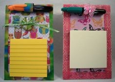 sticky note pad holder for grad boss secretary by DixieSisters, $6.50