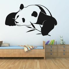 Trend wandtattoos panda niedlich wandgestaltung kinderzimmer