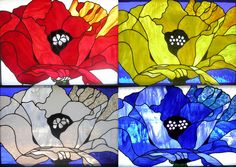 Iva Kalikow  'Warhol Does OKeeffe', 2009 Stained Glass