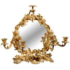 C French Decorative Bronze Mirror and Candelabra Mirror Photo Frames, Bronze Mirror, Affordable Furniture, Through The Looking Glass, Modern Chandelier, Fine Porcelain, Vintage Table, Candelabra, Sculptures