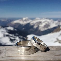 Handmade Silver Mountain Landscape Ring by HannahLouiseLamb