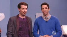 "The ""Property Brothers"" on The View today :) The View Tv Show, Jonathan Silver Scott, Scott Brothers, Free Episodes, Drew Scott, Identical Twins, Property Brothers, Role Models, Watch Diy"