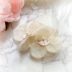 Ivory Silk Fabric Flower Decorative Hair Comb hair fascinator