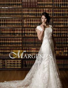 modest wedding dress, trumpet silhouette