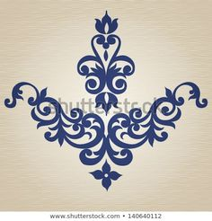 Ornament in Victorian style. Element for design. It can be used for decorating o… Ornament in Victorian style. Element for design. It can be used for decorating of invitations, cards, decoration for bags, clothes and at tattoo creation. Embroidery Patterns, Hand Embroidery, Sewing Patterns, Stencil Painting, Fabric Painting, Pattern Art, Pattern Design, Bordados E Cia, Stencil Designs
