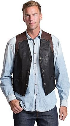 A vintage West design that's built for service and made to last a lifetime. Crafted from American Bison leather the Garrison Vest has an authentic western style that features detailed stitching with contrasting leather at shoulder and back yoke. A classic slightly tapered fit plus a back...  More details at https://jackets-lovers.bestselleroutlets.com/mens-jackets-coats/vests/product-review-for-overland-sheepskin-co-garrison-bison-leather-vest-with-concealed-carry-pock