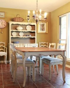 French Country Dining Table and Chairs by Nodtothepast on Etsy, $1250.00