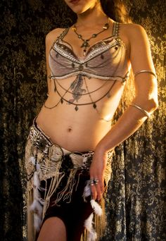 Custom made Tribal Fusion Bellydance Bra - Custom Tribal Fusion Top