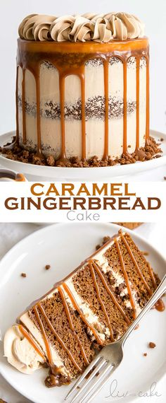 The classic Gingerbread Cake gets a delicious makeover! Gingerbread cake layers … The classic Gingerbread Cake gets a delicious makeover! Gingerbread cake layers and caramel buttercream paired with gingerbread streusel… Holiday Cakes, Christmas Desserts, Christmas Baking, Italian Christmas, Christmas Cakes, New Year's Desserts, Delicious Desserts, Dessert Recipes, Fall Cake Recipes