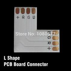50 unids/lote L T X Forma 10mm 4 Pin 5050 Tira del RGB LED Conector de Esquina, Divisor Placa PCB Conector Para Uso de Cambio de Dirección
