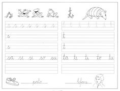 ATIVIDADES PARA TREINAR LETRA CURSIVA | Cantinho do Educador Infantil T Bo, Writing Activities, Sheet Music, Alphabet, Lettering, Julia, Maria Clara, Everton, Play