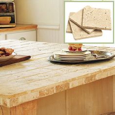 Create A Stylish Salvage Kitchen Travertine Countertopsbar Countertopstravertine Tilestone