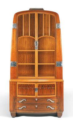 1900 french art nouveau style cabinet europeanantiques artnouveaufurniture european antiques. Black Bedroom Furniture Sets. Home Design Ideas