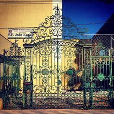 From the demolished mansion at Cleveland Parkway just the gates remains. Sao Paulo - Brazil