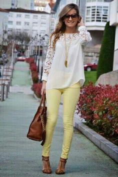 Yellow pants!