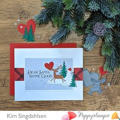 Die Cut Christmas Cards, Christmas Fun, Holiday Cards, Memory Box Cards, Die Cut Cards, Whittling, Dear Santa, Clear Stamps, Tis The Season