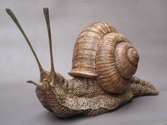 Sculpture by David Cooke Resin Sculpture, Sculptures Céramiques, Bronze Sculpture, Ceramic Animals, Ceramic Art, David Cooke, Ceramic Sculpture Figurative, Snail Art, Queer Art