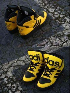newest 36dc3 cb4aa Jeremy Scott x Adidas Originals JS Instinct Hi   Yellow Black