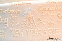 New Year's Eve writing on a cake Video Photography, Fine Art Photography, Wedding Blog, Wedding Ideas, Disney Fine Art, New Years Eve, Wedding Cakes, Decorations, Messages