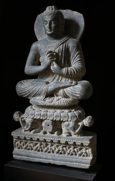 VajraMudra Gandhara Buddha Statues, Buddha Art, Pakistan, Dhoti Saree, Alexandre Le Grand, Sitting Buddha, Painting Quotes, Wood Sculpture, Asia