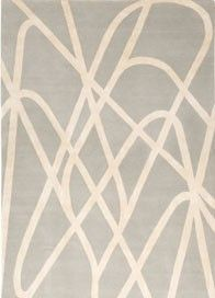 Farrah Grey by Nicole Fuller for The Rug Company. A neutral design hand knotted in Tibetan wool with a silk motif. Contemporary Rugs, Modern Rugs, San Francisco Design, Dining Room Paint, Childrens Rugs, Graffiti Prints, Paint Stripes, Rug Company, Transitional Rugs