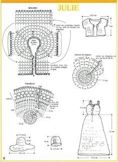 Watch This Video Incredible Crochet a Bear Ideas. Cutest Crochet a Bear Ideas. Crochet Skirt Pattern, Crochet Doll Dress, Crochet Barbie Clothes, Sewing Doll Clothes, Crochet Diagram, Sewing Dolls, Barbie Sewing Patterns, Doll Dress Patterns, Crochet Toys Patterns