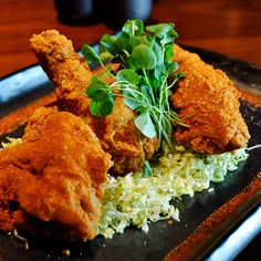 Blue Ribbon Sushi Bar & Grill has a fantastic crunchy Fried Chicken, infused with Japanese flavors like wasabi honey. You don't want to miss it next time you visit Las Vegas.