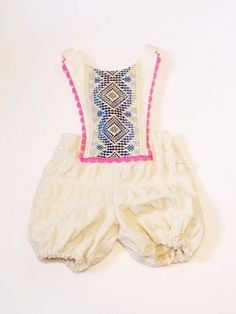 Festive boho girls romper by thebrassrazoo on Etsy