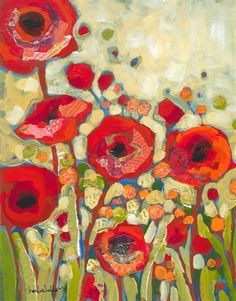 Red Flowers No 2 by Shelli Walters
