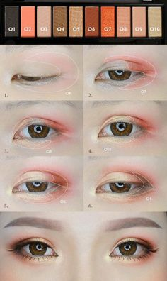 Orange Makeup Tutorial von mollyeberwein - Make Up Ideen - Eye-Makeup Korean Makeup Look, Korean Makeup Tips, Asian Eye Makeup, Korean Makeup Tutorials, Korean Beauty, Korean Makeup Ulzzang, Make Up Geek, Make Up Tools, Make Up Tutorials