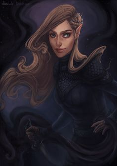 Finally finished painting the High Lady of the Night Court! It took me ages to pinpoint how I imagine Feyre but I think I got pretty close. Also guess who loves painting swirly shit xD Okay it was kinda bothering me so I made it brighter ;)