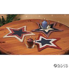 Patriotic Patchwork Stars